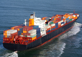 Large Carrier Ship Holding Containers